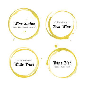 White Wine stain circles