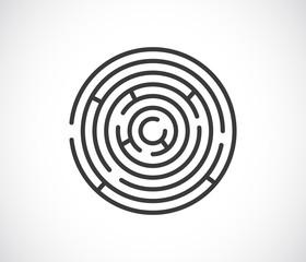 maze labyrinth icon