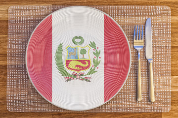 Dinner plate for Peru