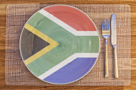 Dinner plate for South Africa