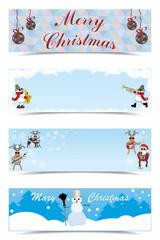 set of Christmas greetings