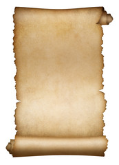 Old scroll parchment or paper isolated