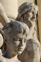Détail d'une statue du Petit Palais à Paris