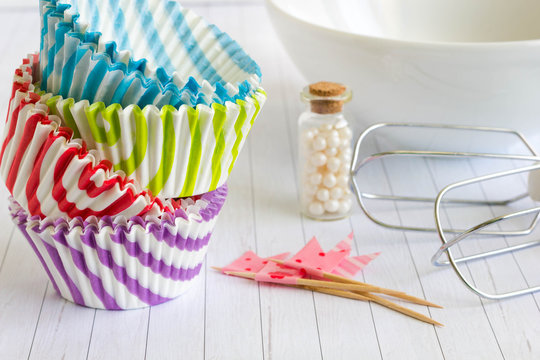 Colorful cupcake liner and cases