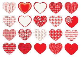 Valentine's Day, decorative hearts