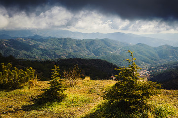 Winter light in the Troodos Mountains. Cyprus