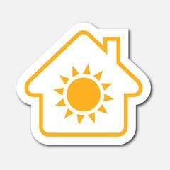 Logo maison et chauffage.