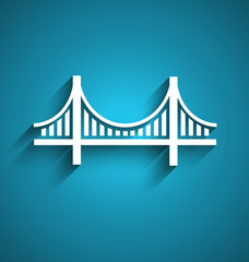 San Francisco bridge vector logo design