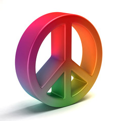 Peace symbol colorful tye dye