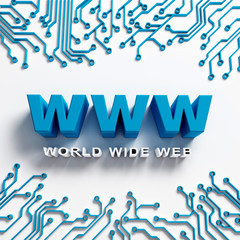 World Wide Web illustration design. Internet Concept