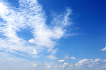 Beautifully blue cloudy sky