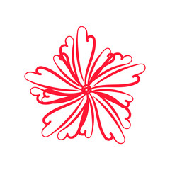Artistic Red Flower Sketch
