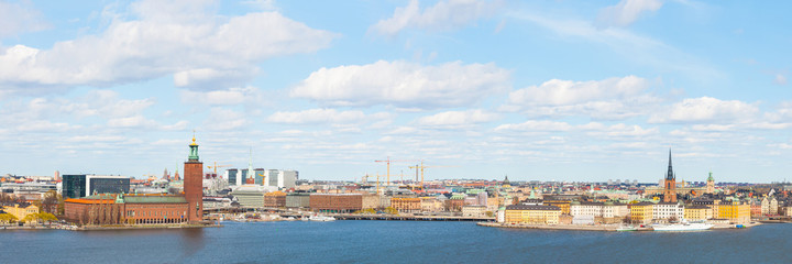 Aerial view of Stockholm on a sunny day