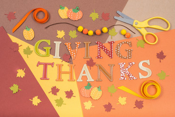 Colorful accessories for Thanksgiving holiday craft