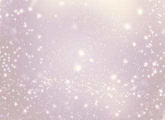 Abstract golden glittering lights and stars - Festive glitter vi
