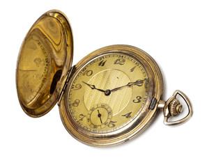 goldene Taschenuhr mit Sprungdeckel um 1900