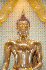 The famous golden Buddha at Wat Traimit, Bangkok