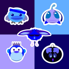 The vector illustration create in illustrator with cute