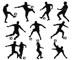 soccer player moves in action and juggling