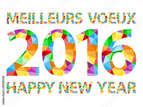 carte bilingue meilleurs voeux 2016 happy new year fichier vectoriel libre de droits sur la. Black Bedroom Furniture Sets. Home Design Ideas