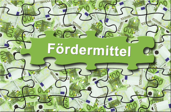"""Förderung 11 / Geldschein-Puzzle """"Fördermittel"""""""