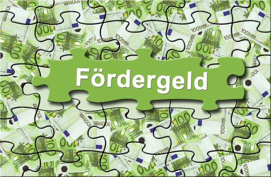 """Förderung 12 / Geldschein-Puzzle """"Fördergeld"""""""