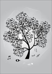 Music tree background