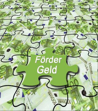 """Förderung 14 / Geldschein-Puzzle """"Fördergeld"""""""