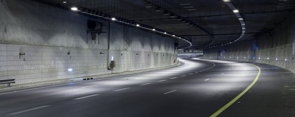Photo sur Plexiglas Autoroute nuit Highway at Night