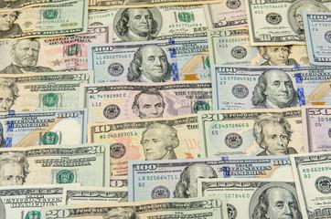 Various banknotes of US dollars