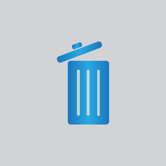 Trash can vecto icon