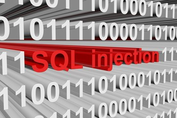 SQL injection is presented in the form of binary code