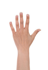 hands show the number five