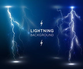 Lightning flash strike background