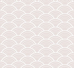 Fish scales asian seamless vector pattern