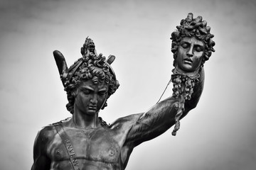 Ancient sculpture of Menelaus supporting the body of Patroclus. Florence, Italy Fototapete