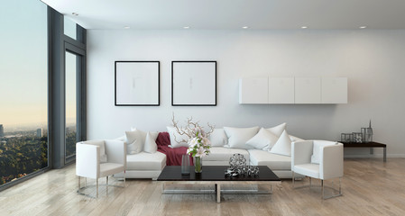 Modern Living Room in High Rise Condominium