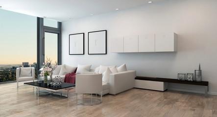 Modern Living Room in High Rise Condominium