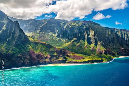 Fototapete View on Na Pali Coast on Kauai island on Hawaii