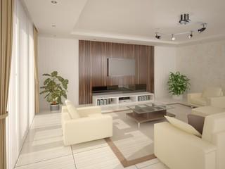 Сontemporary living room.