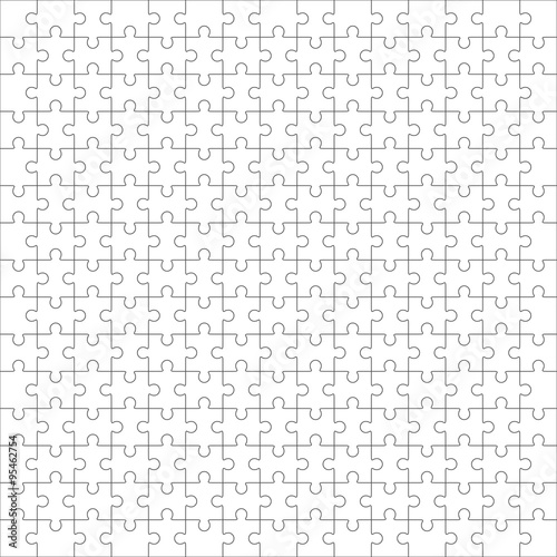 Quot Jigsaw Puzzle Blank Template 225 Pieces Quot Stock Image And