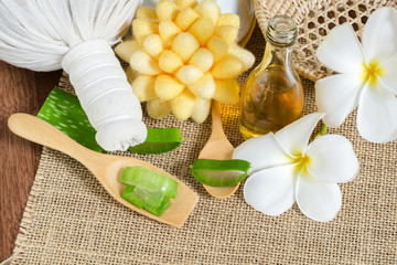 Aloe Vera for skin treatment and use in spa for skin care