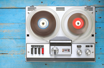 vintage open reel tape recorder, free copy space