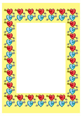 Frame with hearts and arrows