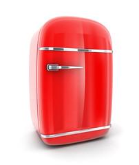 Old red fridge