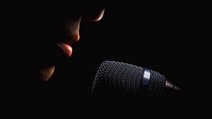 Microphone And Singer