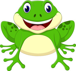 Cartoon cute frog of illustration