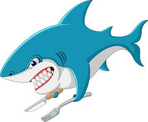 cute Shark cartoon of illustration