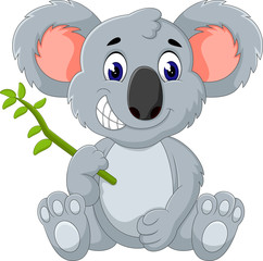 Cute koala cartoon of illustration