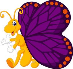 Cute butterfly cartoon of illustration